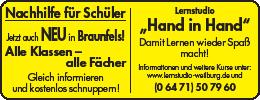 Das Lenstudio ist auch in Braunfels vertreten