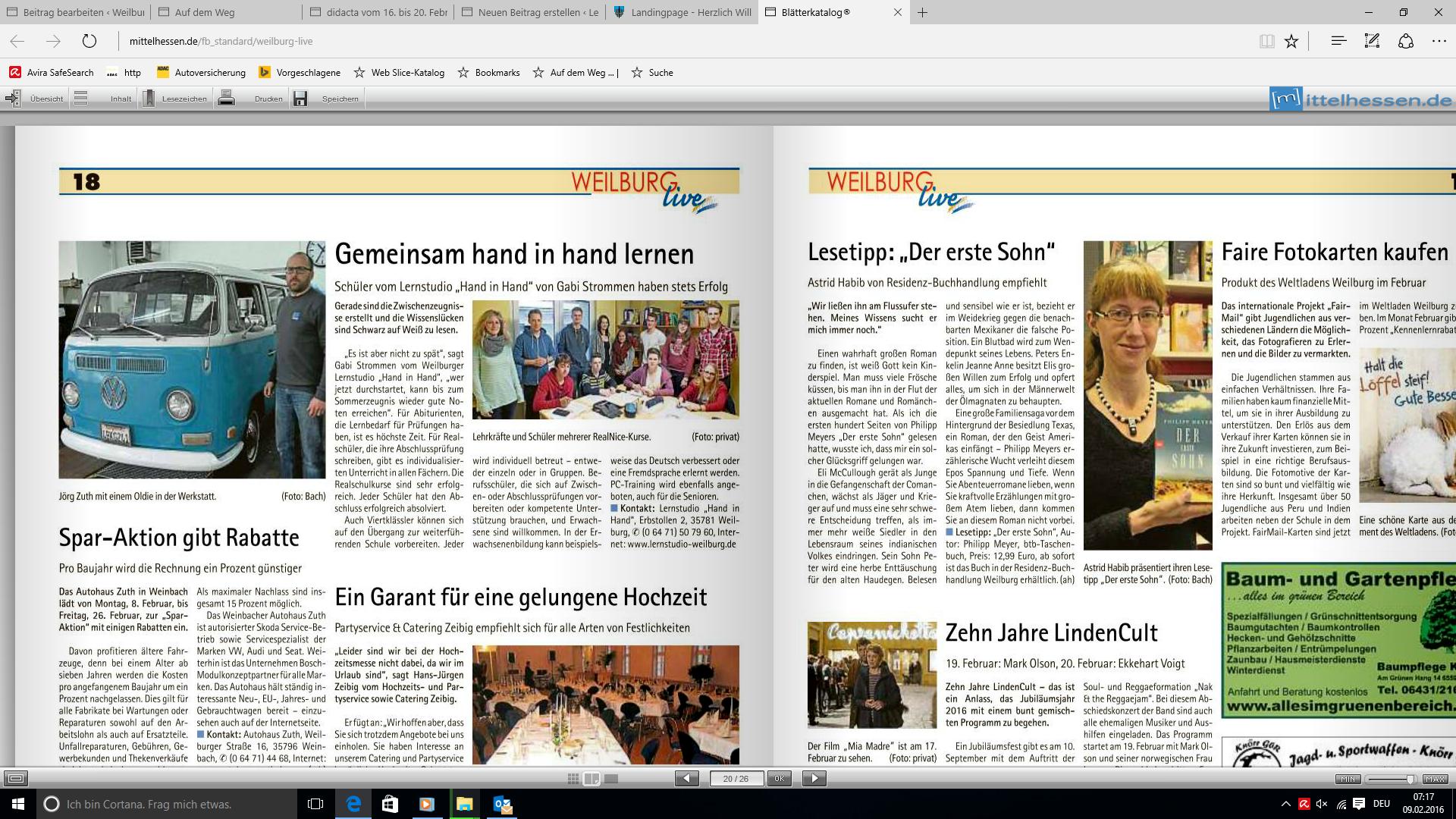 Weilburg live vom 6. Februar