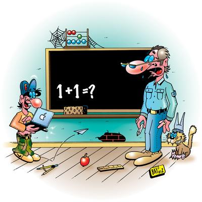 Fit in die 5. - Cartoon von Stefan Bayer, pixelio.de